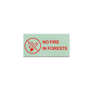 Inorganic Light Storage Self-luminous Warning Sign in Forest And Scenic