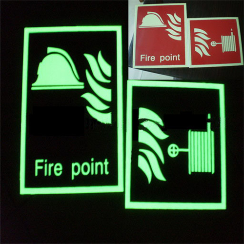 Luminescent Glow Safety Exit Sign